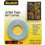 "Scotch® Artist Tape for Curves: Artist, 1/16"", (model FA2038), price per roll"