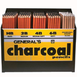 General's® Charcoal Pencil Display: Pencil, (model 5577D), price per each