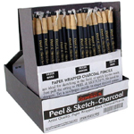 General Paper Wrapped Charcoal Pencil Display