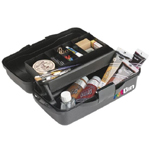"Artbin® Essentials One-Tray Box: Black/Gray, Plastic, 8 1/4""l x 15""w x  6 1/2""h, (model 8512MB), price per each"