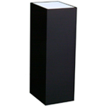 "Lighted Black Laminate Pedestal: 11 1/2"" x 11 1/2"" Base, 42"" Height"