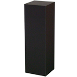"Black Laminate Pedestal: 12"" x 12"" Base, 12"" Height"