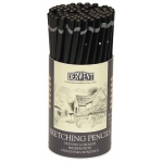 Derwent Sketching Pencil 72-Piece Tub: Black/Gray, Drawing, (model 34345), price per set