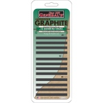 General's® Compressed Graphite Sticks: Black/Gray, 2B, 4B, 6B, Drawing Lead, (model 97012ABP), price per set