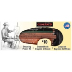 General's® Basic Drawing Pencil Kit: Black/Gray, White/Ivory, 2B, 4B, 6B, Drawing, (model G10), price per set