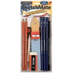 General's® SketchMate™ Charcoal & Graphite Drawing Kit: Black/Gray, Drawing, (model G49SK), price per set