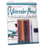 "Royal & Langnickel® Essentials™ Watercolor Pencil Artist Pack: Wire Bound, Multi, 10 Sheets, 9"" x 12"", Watercolor, (model RD503), price per 10 Sheets"