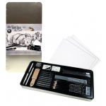 Royal & Langnickel® Sketching Large Tin Art Set: Pencil, Stick, Black/Gray, (model RSET-ART2408), price per set