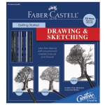Faber-Castell® Creative Studio Getting Started Drawing & Sketching Set: Black/Gray, Book, Drawing, (model FC800052), price per set