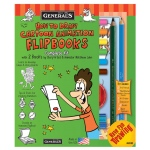 General's® How To Draw Cartoon Flip Books! Kit: Book, (model G69102), price per each