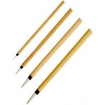 Princeton™ Bamboo Brush Round 2/0: Natural, Round, Calligraphy, Watercolor, (model 2150B-2/0), price per each
