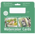 "Strathmore® 5 x 6.875 Watercolor Cards and Postcards 10-Pack: White/Ivory, Envelope Included, 10 Cards, 5"" x 6 7/8"", Cold Press, Watercolor, 140 lb, 80 lb, (model ST105-150), price per 10 Cards"