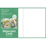 "Strathmore® 5 x 6.875 Watercolor Cards and Postcards 50-Pack: White/Ivory, Envelope Included, Card, 50 Cards, 5"" x 6 7/8"", Cold Press, 140 lb, 80 lb, (model ST105-210), price per 50 Cards"