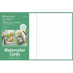 "Strathmore® 5 x 6.875 Watercolor Cards and Postcards 100-Pack: White/Ivory, Envelope Included, 100 Cards, 5"" x 6 7/8"", Cold Press, Watercolor, 140 lb, 80 lb, (model ST105-650), price per 100 Cards"