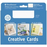 "Strathmore® 5 x 6.875 Fluorescent White/Deckle Creative Cards 10-Pack: White/Ivory, Envelope Included, Card, 10 Cards, 5"" x 6 7/8"", 80 lb, (model ST105-160), price per 10 Cards"
