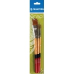 Princeton Golden Taklon Brush Set Round 4 and 6 Stroke 3/4