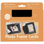 "Strathmore® Photo Frame Cards 10-Pack Black: Black/Gray, Envelope Included, Card, 10 Cards, 5"" x 6 7/8"", 80 lb, (model ST105-186), price per 10 Cards"