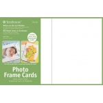 "Strathmore® Photo Frame Cards 40-Pack White: White/Ivory, Envelope Included, Card, 40 Cards, 5"" x 6 7/8"", 80 lb"
