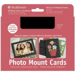 "Strathmore® Photo Mount Cards 10-Pack Black: Black/Gray, Envelope Included, Card, 10 Cards, 5"" x 6 7/8"", 80 lb, (model ST105-195), price per 10 Cards"