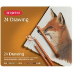 Derwent Drawing Pencil 24-Color Tin Set: Multi, Drawing, (model 0700672), price per set