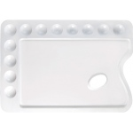 "Heritage Arts™ Rectangular Plastic Palette 13 3/4 x 9 3/4: Plastic, 12 Wells, Rectangle, 9 3/4"" x 13 3/4"", (model CW168), price per each"