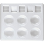"Heritage Arts™ Rectangular Plastic Palette Tray 5 x 4 1/4: Plastic, Rectangle, 5"" x 4 1/4"""