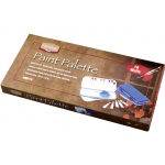"Heritage Arts™ Paint Palette 18 Wells: Cover, Plastic, 18 Wells, Rectangle, 5"" x 10 1/2"""