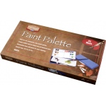 "Heritage Arts™ Paint Palette 24 Wells: Cover, Plastic, 24 Wells, Rectangle, 6 1/4"" x 12 1/2"""