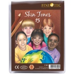 Finetec 15-Color Skin Tones Pencil Set: Multi
