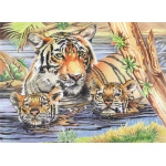 "Reeves™ Large Colored Pencil By Numbers Tigers & Cubs: Multi, 12"" x 15"""