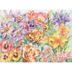 "Reeves™ Large Colored Pencil By Numbers Floral Montage: Multi, 12"" x 15"", (model PPCR3), price per each"