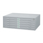 "Safco Steel Flat File: 5 Drawers, Gray, 16 1/2"" x 53 3/8"" x 41 3/8"""