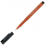 Faber-Castell® PITT® Artist Pen Sanguine Medium: Brown, Orange, India, Pigment, Medium Nib, (model FC167388), price per each