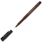 Faber-Castell® PITT® Artist Pen Sepia Superfine: Brown, India, Pigment, Super Fine Nib