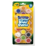Crayola® Washable Kids' Paint 18-Color Pot Set: Multi, Pot, (model 54-0125), price per set