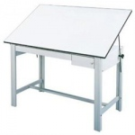 "Alvin® DesignMaster Tool and Reference Gray Drawer Set: Melamine, 23""l x 31""w x 1 1/2""h, 23""l x 8""w x 3 1/2""h"