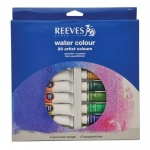 Reeves™ 22ml Watercolor 20-Color Set: Multi, Tube, 22 ml, Watercolor, (model 8490112), price per set