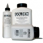 Golden® Polymer Gloss Medium 32 oz.: 32 oz, 946 ml, Acrylic Painting, (model 0003510-7), price per each