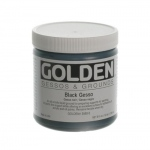 Golden® Black Gesso 8 oz.: Black/Gray, 236 ml, 8 oz, Gesso, (model 0003560-5), price per each