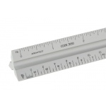 "Alumicolor 12"" Silver Solid Core Aluminum Triangular Architect Scale"