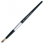 Dynasty® Black Silver® Blended Synthetic Watercolor Brush Round 0: Short Handle, Bristle, Round, Watercolor, (model FM32824), price per each