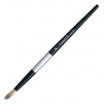Dynasty® Black Silver® Blended Synthetic Watercolor Brush Round 4: Short Handle, Bristle, Round, Watercolor, (model FM32825), price per each