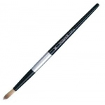 Dynasty® Black Silver® Blended Synthetic Watercolor Brush Round 8: Short Handle, Bristle, Round, Watercolor