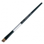 Dynasty® Black Silver® Blended Synthetic Watercolor Brush Angular 1/4: Short Handle, Bristle, Angular, Watercolor