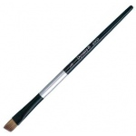 Dynasty® Black Silver® Blended Synthetic Watercolor Brush Angular 3/8: Short Handle, Bristle, Angular, Watercolor, (model FM32822), price per each