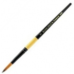 Dynasty® Black Gold® Synthetic Watercolor Brush Round 10: Short Handle, Synthetic, Round, Watercolor, (model FM12201), price per each