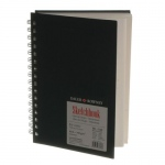 "Cachet® Simply™ Sketchbook 5.5"" x 8.5"" Soft White Paper Wirebound: White/Ivory, Book, 80 Sheets, 5 1/2"" x 8 1/2"", Sketching"
