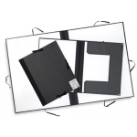 "Cachet® 23"" x 31"" Classic Portfolio with Folding Flaps: Black/Gray, Fiberboard, Paper, 23"" x 31"", (model CS471312331), price per each"