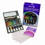 Reeves™ Complete Water Mixable Oil Color Painting Set: Multi, Tube, 12 ml, Oil, (model 8310145), price per set