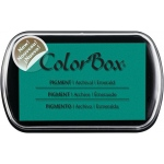 ColorBox® Full Size Pigment Ink Pad Emerald: Green, Pad, Pigment, Full Size Rectangle, (model CS15223), price per each